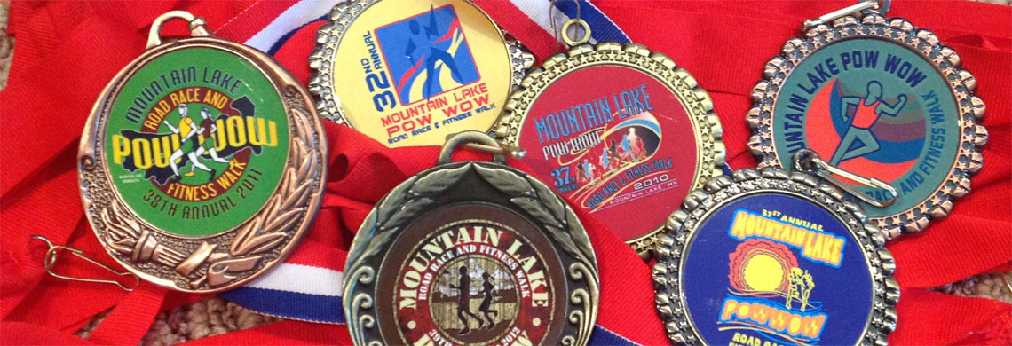 Medals from previous races